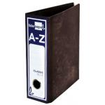 Liderpapel AZ12 - Archivador de palanca, tamaño cuarto, lomo ancho, color negro jaspeado
