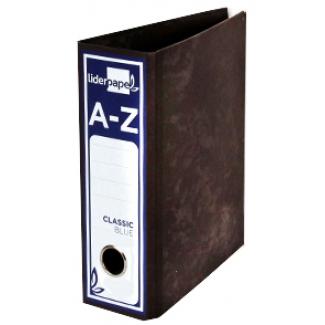 Archivador de palanca Liderpapel tamaño cuarto classic blue sin rado lomo 80 mm color negro con compresor metálico