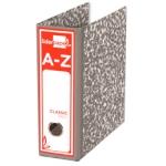 Archivador de palanca Liderpapel tamaño cuarto classic red cartón entrecolado sin rado lomo 80 mm color gris compresor metalic