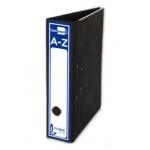Archivador de palanca Liderpapel tamaño folio classic blue cartón entrecolado sin rado lomo 80 mm color negro compresor metal