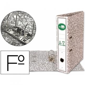 Archivador de palanca Liderpapel tamaño folio classic grey cartón entrecolado con rado lomo 75 mm color gris compresor metálico
