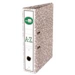 Liderpapel AZ05 - Archivador de palanca, tamaño folio, lomo ancho, con rado, lomo ancho, color gris jaspeado