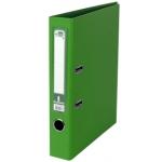 Archivador de palanca Liderpapel tamaño folio documenta forrado pvc con rado lomo 52 mm color verde con compresor metálico