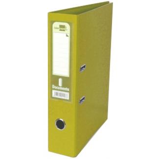 Archivador de palanca Liderpapel tamaño folio documenta forrado pvc con rado lomo 75 mm color amarillo con compresor metálico