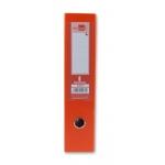 Archivador de palanca Liderpapel tamaño folio documenta forrado pvc con rado lomo 75 mm color naranja con compresor