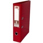 Archivador de palanca Liderpapel tamaño folio documenta forrado pvc con rado lomo 75 mm color rojo con compresor metálico