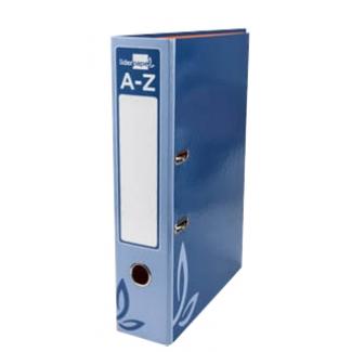 Archivador de palanca Liderpapel tamaño folio forrado con rado lomo 52 mm color azul con compresor metálico