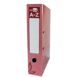 Archivador de palanca Liderpapel tamaño folio forrado con rado lomo 52 mm color rojo con compresor metálico