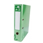 Archivador de palanca Liderpapel tamaño folio forrado con rado lomo 52 mm color verde con compresor metálico