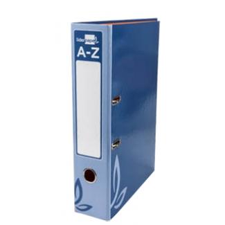 Archivador de palanca Liderpapel tamaño folio forrado con rado lomo 75 mm color azul con compresor metálico