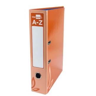 Archivador de palanca Liderpapel tamaño folio forrado con rado lomo 75 mm color naranja con compresor metálico