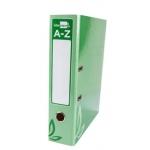 Archivador de palanca Liderpapel tamaño folio forrado con rado lomo 75 mm color verde con compresor metálico
