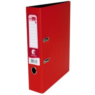 Archivador de palanca Liderpapel tapa polipropileno tamaño A4 color rojo sin caja y con rado lomo 75 mm executive