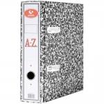Grafoplás 07179171 - Archivador de palanca, tamaño folio, lomo ancho, con rado, color gris jaspeado