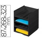 Archivador Fast-PaperFlow bloques sobreponibles 4 casillas modulables con encimera negra