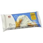 Arcilla plus que endurece al aire color blanco paquete de 500 gr