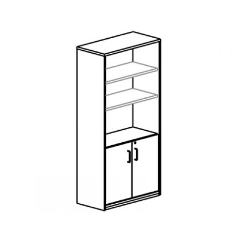 Armario Rocada Con 3 Estantes Y Dos Puertas Enteras Serie
