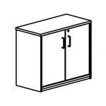 Armario Rocada con un estante y dos puertas enteras serie store 195x90x45 acabado aa01 haya/haya