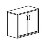 Armario Rocada con un estante y dos puertas enteras serie store 78x90x45 acabado aa01 haya/haya