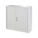 Armario Fast-PaperFlow estructura de acero y poliestireno con 2 puertas correderas y cerradura color
