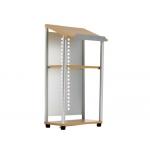Atril para conferencias de aluminio y madera con niveladores regulables 122x51x31