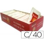 Azucar color Blanca en sobres de 8g caja de 40 sobres