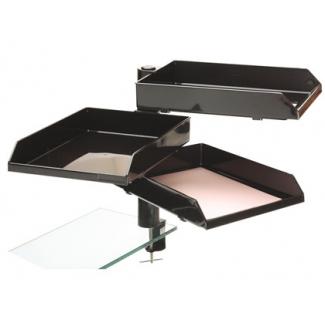 Bandeja con soporte giratorio archivo tamaño A4 y tamaño folio 3 bandejas plástico negras