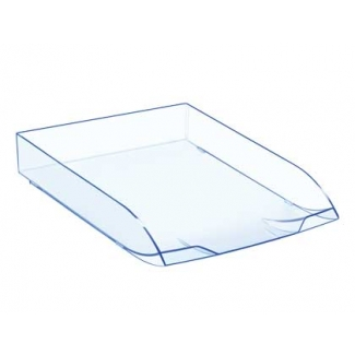 Cep Confort- Bandeja de sobremesa de plástico, color transparente celeste