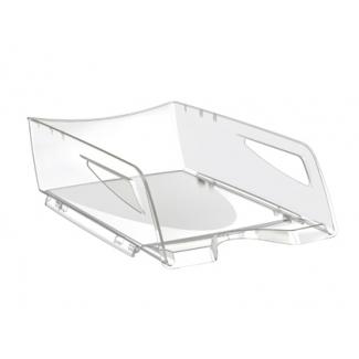 Cep Maxi - Bandeja de sobremesa de plástico, gran capacidad, color transparente