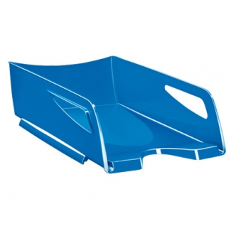 Cep Maxi - Bandeja de sobremesa de plástico, gran capacidad, color azul