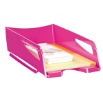 Bandeja sobremesa Cep maxi de gran capacidad plástico color rosa
