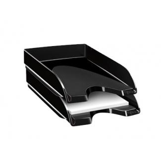 Cep - Bandeja de sobremesa de plástico, color negro