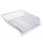 Bandeja sobremesa Offisys plástico flexible transparente apilable transparente