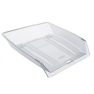 Offisys - Bandeja de sobremesa de plástico flexible, color transparente