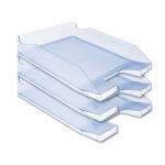 Q-Connect KF04202 - Bandeja de sobremesa de plástico, color azul claro transparente
