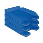 Q-Connect KF04197 - Bandeja de sobremesa de plástico, color azul transparente