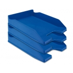 Q-Connect KF04191 - Bandeja de sobremesa de plástico, color azul opaco