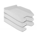 Bandeja sobremesa plástico Q-connect color gris opaco