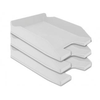 Q-Connect KF04194 - Bandeja de sobremesa de plástico, color gris opaco