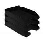 Q-Connect KF04189 - Bandeja de sobremesa de plástico, color negro opaco