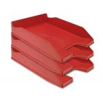 Bandeja sobremesa plástico Q-connect color rojo opaco