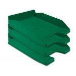 Q-Connect KF04192 - Bandeja de sobremesa de plástico, color verde opaco