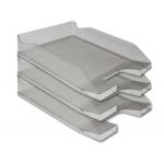 Q-Connect KF04199 - Bandeja de sobremesa de plástico, color gris oscuro transparente