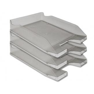 Bandeja sobremesa plástico Q-connect gris oscuro transparente