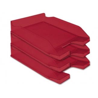 Bandeja sobremesa plástico Q-connect rojo transparente