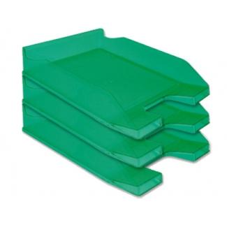 Q-Connect KF04198 - Bandeja de sobremesa de plástico, color verde transparente