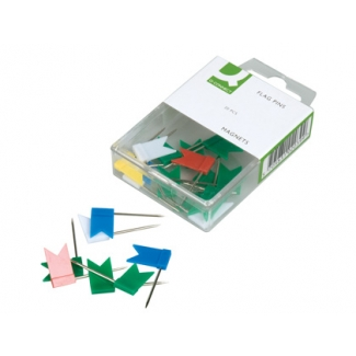 Banderitas señalizadoras Q-Connect caja de 20 unidades colores surtidos