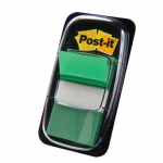 Post-it 680-3- Banderitas separadoras, color verde, dispensador de 50