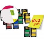 Banderitas separadoras colores surtidos pack promocional de 10 blisters + 2 de obsequio