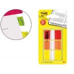 Banderitas separadoras post-index 680-roy color amarillo rojo y naranja dispensador funda 3x20